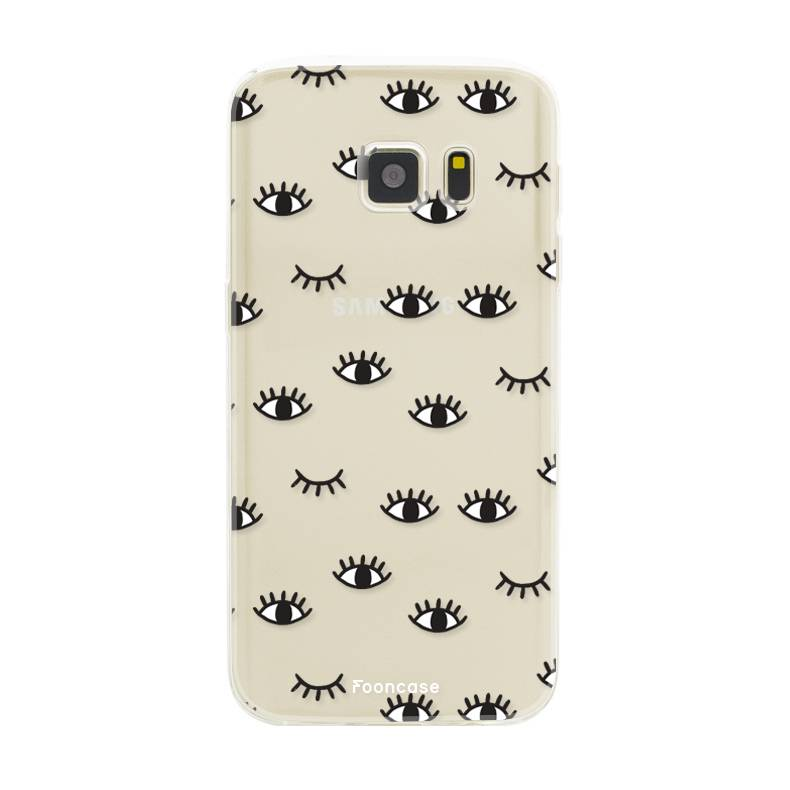 FOONCASE Samsung Galaxy S7 hoesje TPU Soft Case - Back Cover - Eyes / Ogen