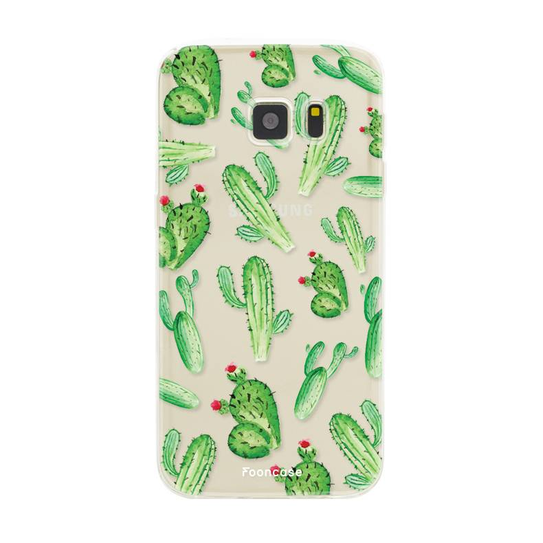 FOONCASE Samsung Galaxy S7 hoesje TPU Soft Case - Back Cover - Cactus