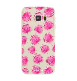 FOONCASE Samsung Galaxy S7 - Pink leaves