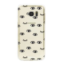 FOONCASE Samsung Galaxy S7 Edge - Eyes