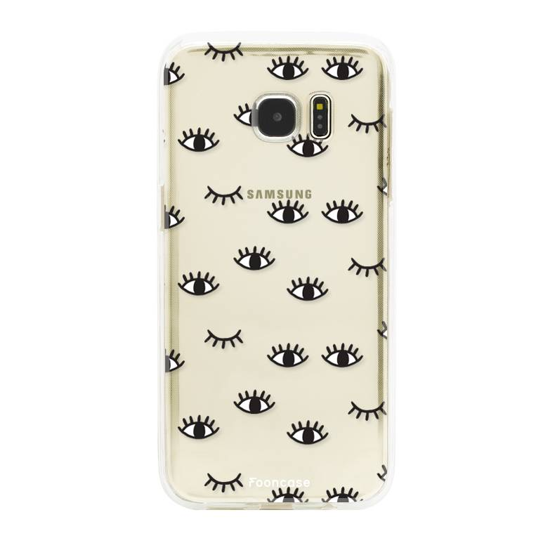 FOONCASE Samsung Galaxy S7 Edge hoesje TPU Soft Case - Back Cover - Eyes / Ogen