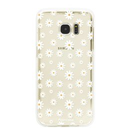 FOONCASE Samsung Galaxy S7 Edge - Madeliefjes