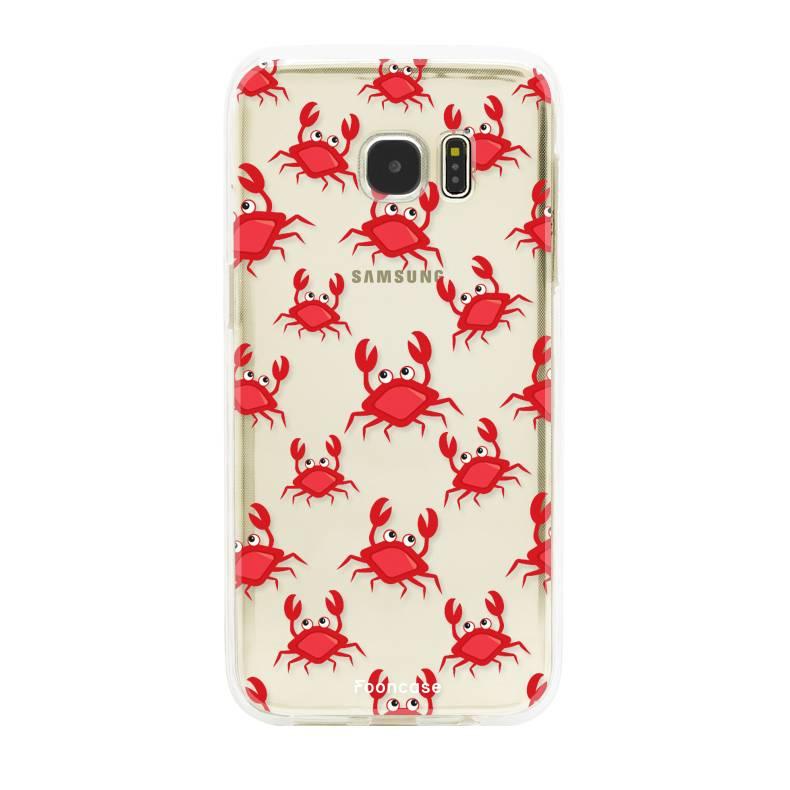 FOONCASE Samsung Galaxy S7 Edge hoesje TPU Soft Case - Back Cover - Crabs / Krabbetjes / Krabben