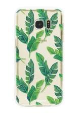 FOONCASE Samsung Galaxy S7 Edge hoesje TPU Soft Case - Back Cover - Banana leaves / Bananen bladeren