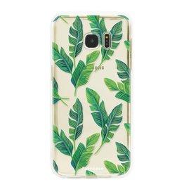 FOONCASE Samsung Galaxy S7 Edge - Banana leaves
