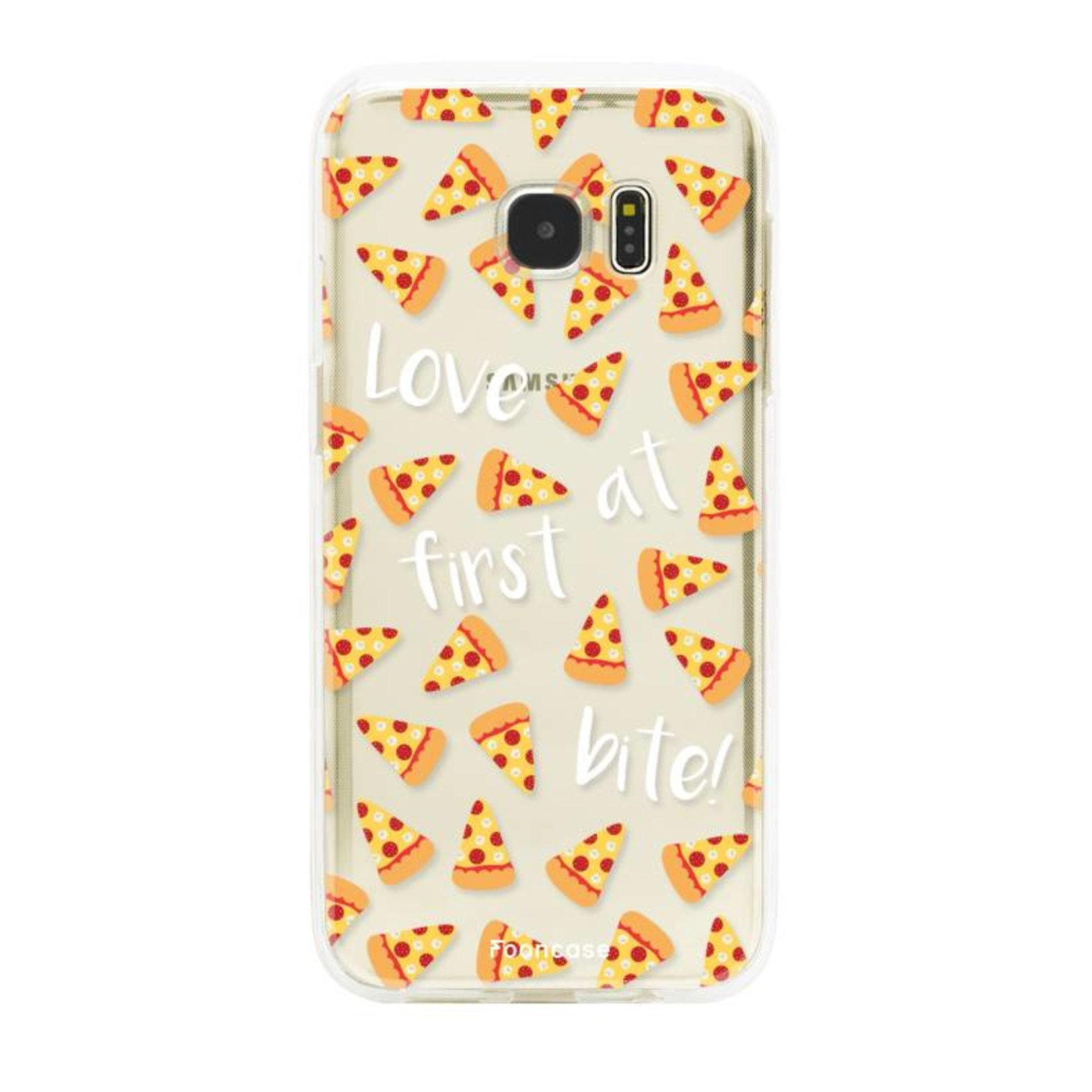FOONCASE Samsung Galaxy S7 Edge hoesje TPU Soft Case - Back Cover - Pizza / Food