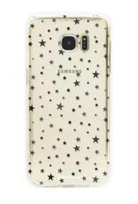 FOONCASE Samsung Galaxy S7 Edge hoesje TPU Soft Case - Back Cover - Stars / Sterretjes