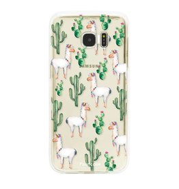 FOONCASE Samsung Galaxy S7 Edge - Lama
