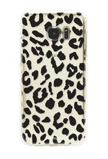 FOONCASE Samsung Galaxy S7 Edge hoesje TPU Soft Case - Back Cover - Luipaard / Leopard print
