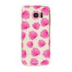 FOONCASE Samsung Galaxy S7 Edge - Pink leaves