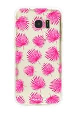 FOONCASE Samsung Galaxy S7 Edge Handyhülle - Rosa Blätter