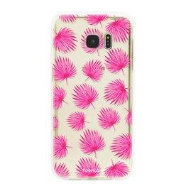 FOONCASE Samsung Galaxy S7 Edge - Foglie rosa