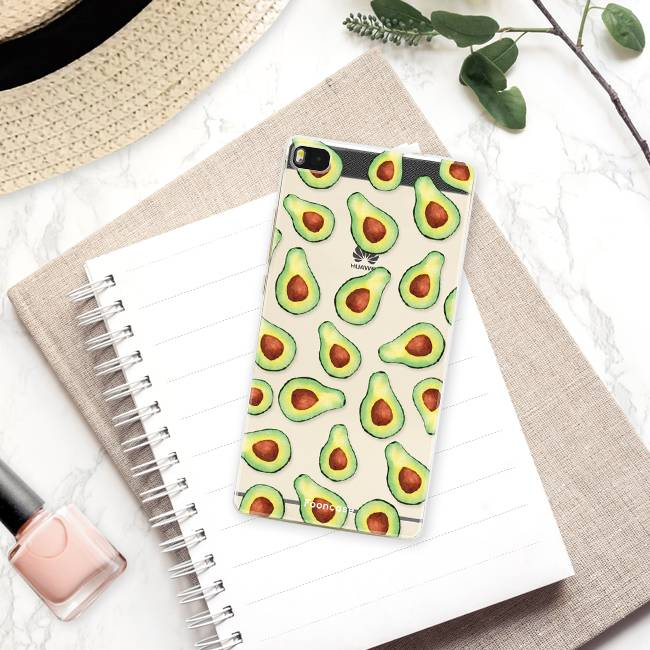 FOONCASE Huawei P8 hoesje TPU Soft Case - Back Cover - Avocado