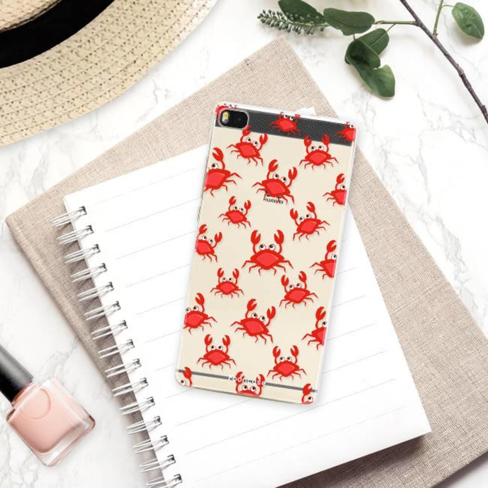 FOONCASE Huawei P8 hoesje TPU Soft Case - Back Cover - Crabs / Krabbetjes / Krabben