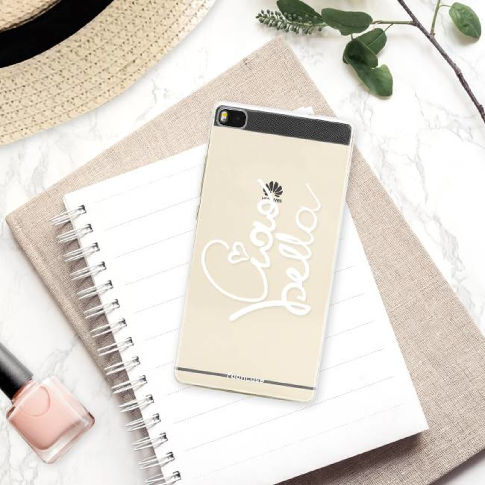 FOONCASE Huawei P8 hoesje TPU Soft Case - Back Cover - Ciao Bella!