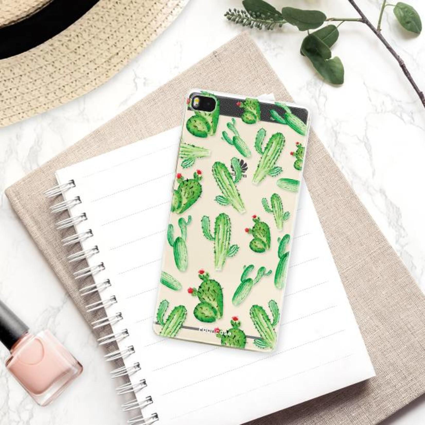 FOONCASE Huawei P8 hoesje TPU Soft Case - Back Cover - Cactus