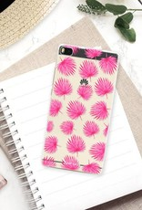 FOONCASE Huawei P8 Cover - Foglie rosa