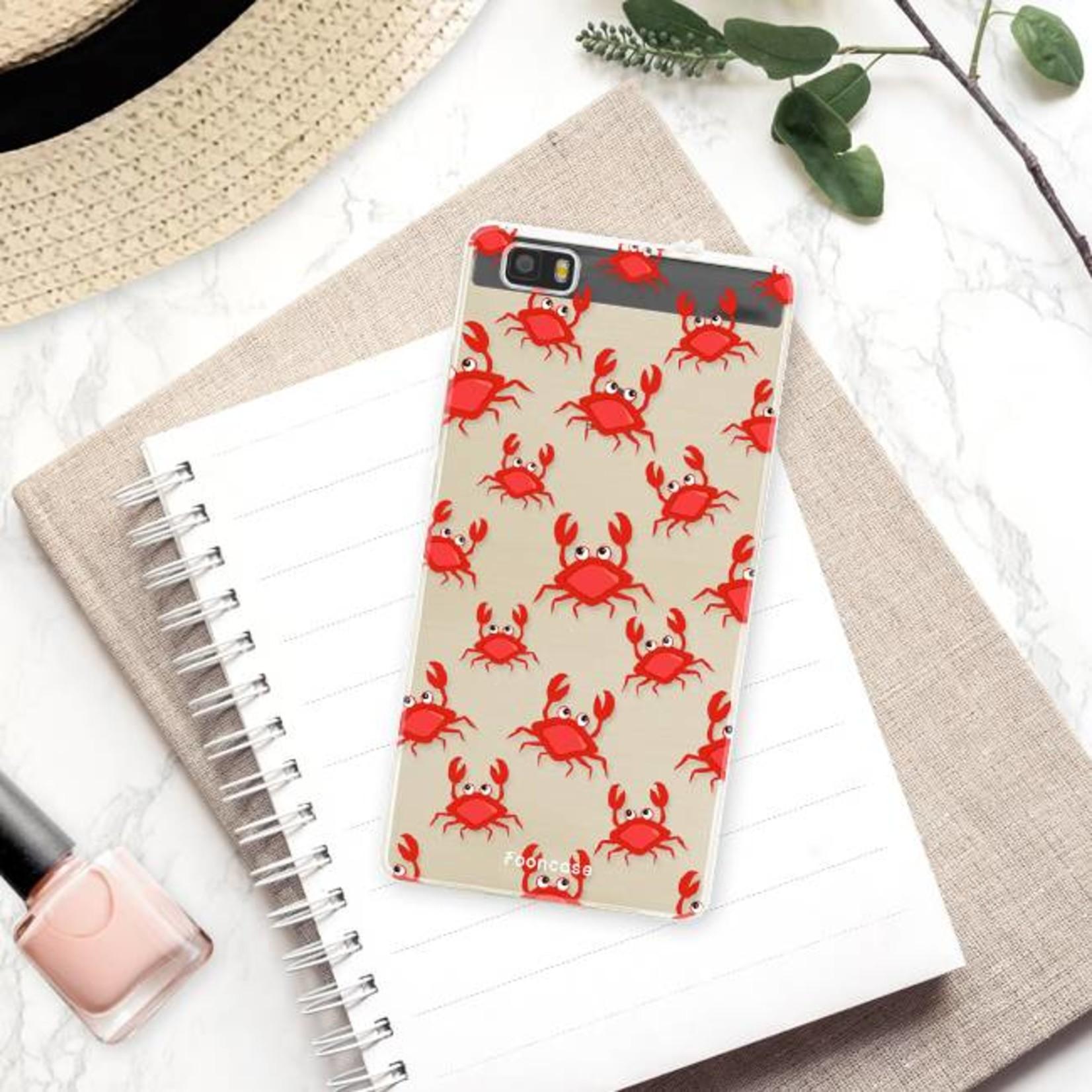 FOONCASE Huawei P8 Lite 2016 hoesje TPU Soft Case - Back Cover - Crabs / Krabbetjes / Krabben