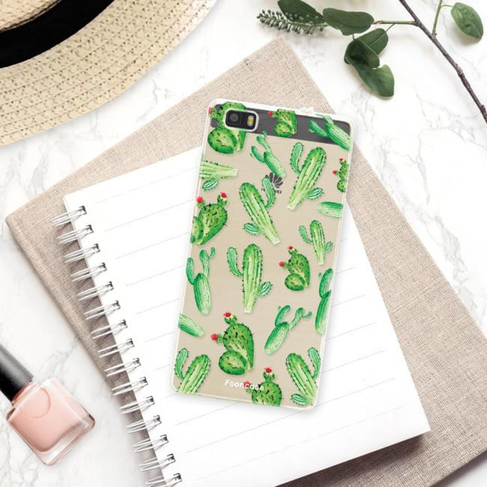 FOONCASE Huawei P8 Lite 2016 hoesje TPU Soft Case - Back Cover - Cactus