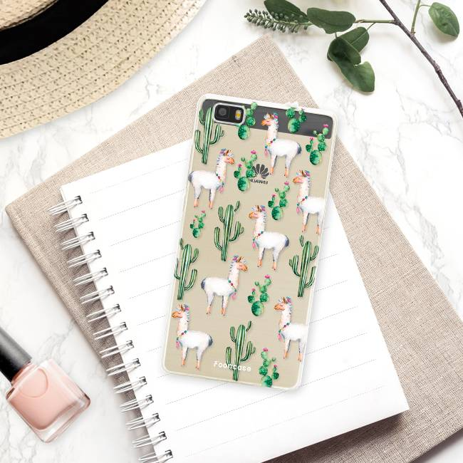 FOONCASE Huawei P8 Lite 2016 hoesje TPU Soft Case - Back Cover - Alpaca / Lama
