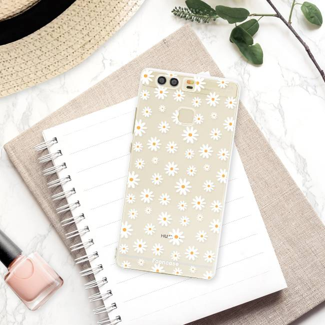 FOONCASE Huawei P9 hoesje TPU Soft Case - Back Cover - Madeliefjes