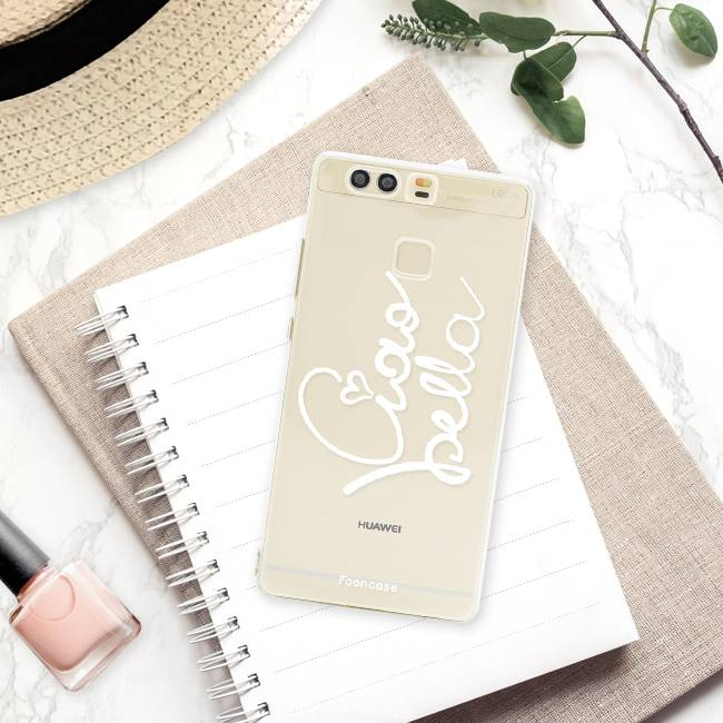 FOONCASE Huawei P9 hoesje TPU Soft Case - Back Cover - Ciao Bella!