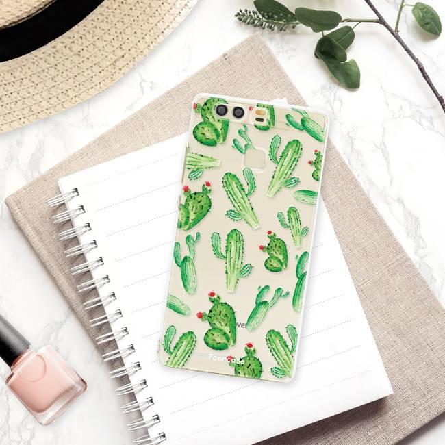 FOONCASE Huawei P9 hoesje TPU Soft Case - Back Cover - Cactus