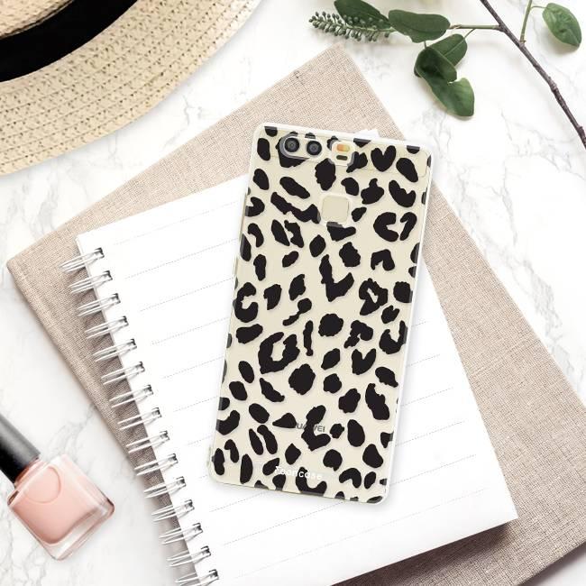 FOONCASE Huawei P9 hoesje TPU Soft Case - Back Cover - Luipaard / Leopard print
