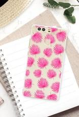 FOONCASE Huawei P9 Handyhülle - Rosa Blätter