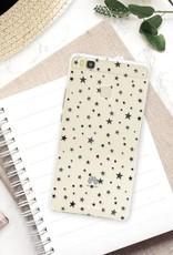 FOONCASE Huawei P9 Lite hoesje TPU Soft Case - Back Cover - Stars / Sterretjes