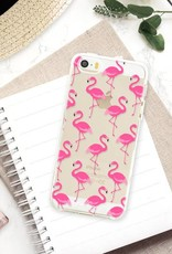 FOONCASE iPhone 5 / 5S hoesje TPU Soft Case - Back Cover - Flamingo