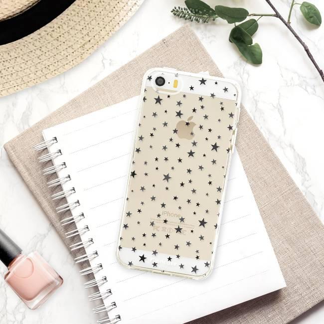 FOONCASE iPhone 5 / 5S hoesje TPU Soft Case - Back Cover - Stars / Sterretjes