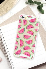 FOONCASE iPhone 5 / 5S hoesje TPU Soft Case - Back Cover - Watermeloen