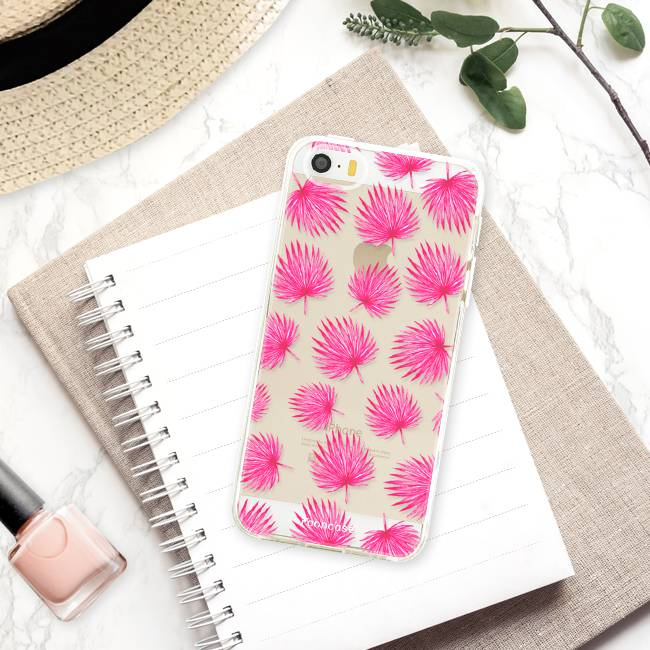 Apple Iphone SE Handyhülle - Rosa Blätter