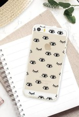 FOONCASE iPhone SE hoesje TPU Soft Case - Back Cover - Eyes / Ogen