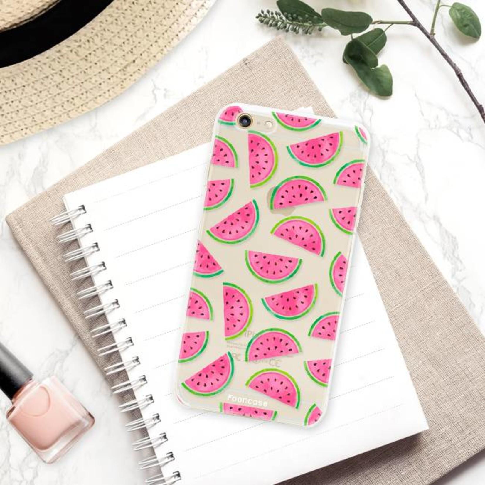 FOONCASE iPhone 6 / 6S hoesje TPU Soft Case - Back Cover - Watermeloen