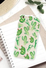 FOONCASE iPhone 6 / 6S hoesje TPU Soft Case - Back Cover - Cactus