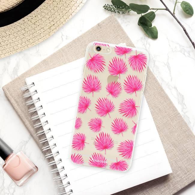 Apple Iphone 6 / 6S hoesje - Pink leaves