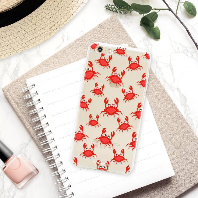 FOONCASE iPhone 6 / 6S hoesje TPU Soft Case - Back Cover - Crabs / Krabbetjes / Krabben