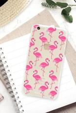 FOONCASE iPhone 6 Plus hoesje TPU Soft Case - Back Cover - Flamingo