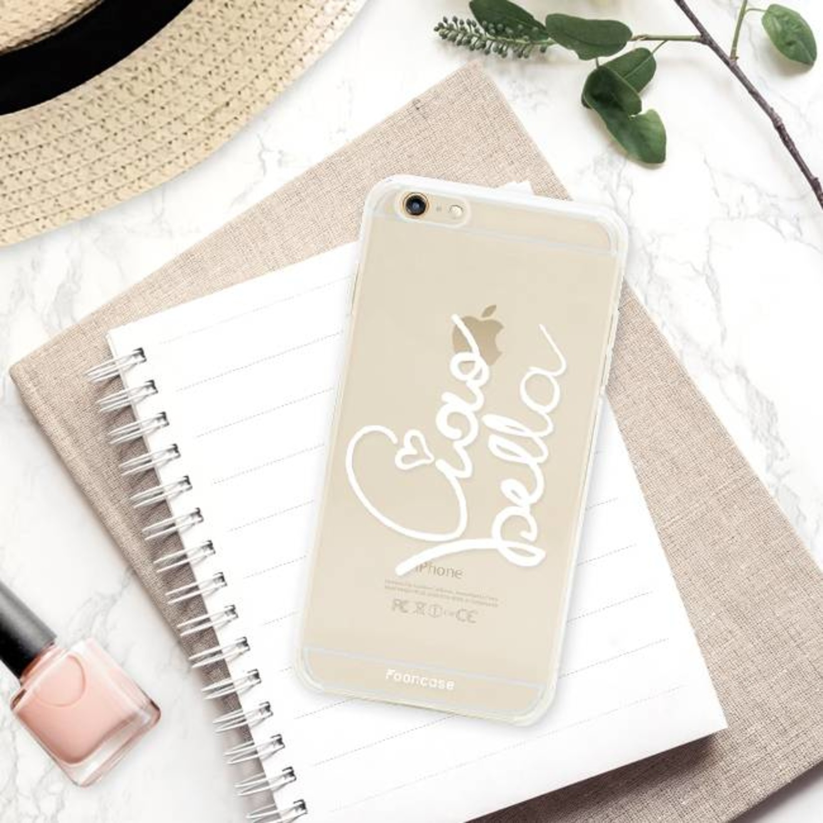 FOONCASE iPhone 6 Plus hoesje TPU Soft Case - Back Cover - Ciao Bella!