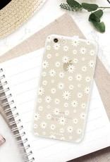 FOONCASE iPhone 6 Plus hoesje TPU Soft Case - Back Cover - Madeliefjes