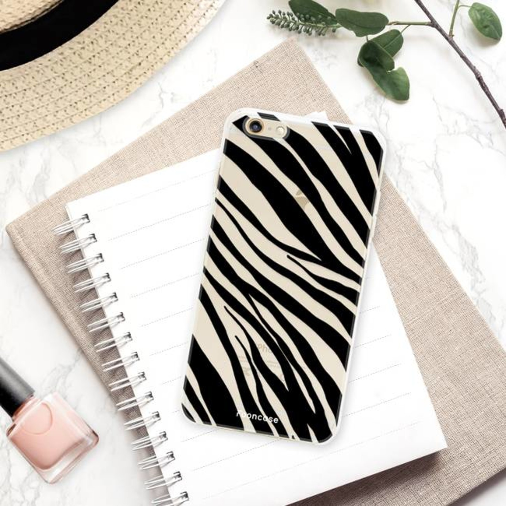 FOONCASE iPhone 6 Plus hoesje TPU Soft Case - Back Cover - Zebra print