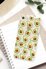 FOONCASE iPhone 7 hoesje TPU Soft Case - Back Cover - Avocado