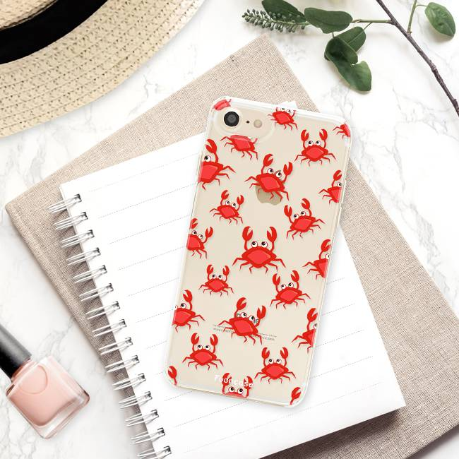 FOONCASE iPhone 7 hoesje TPU Soft Case - Back Cover - Crabs / Krabbetjes / Krabben