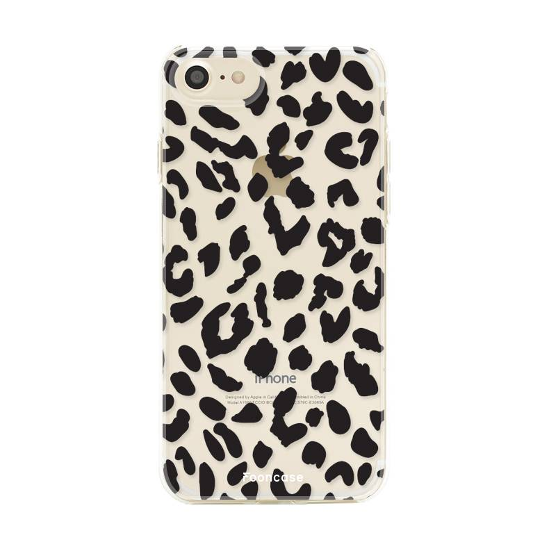 FOONCASE iPhone 7 hoesje TPU Soft Case - Back Cover - Luipaard / Leopard print