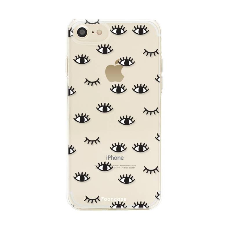 FOONCASE iPhone 7 hoesje TPU Soft Case - Back Cover - Eyes / Ogen