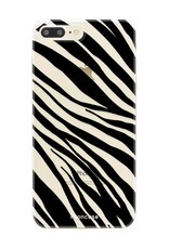 FOONCASE iPhone 7 Plus hoesje TPU Soft Case - Back Cover - Zebra print