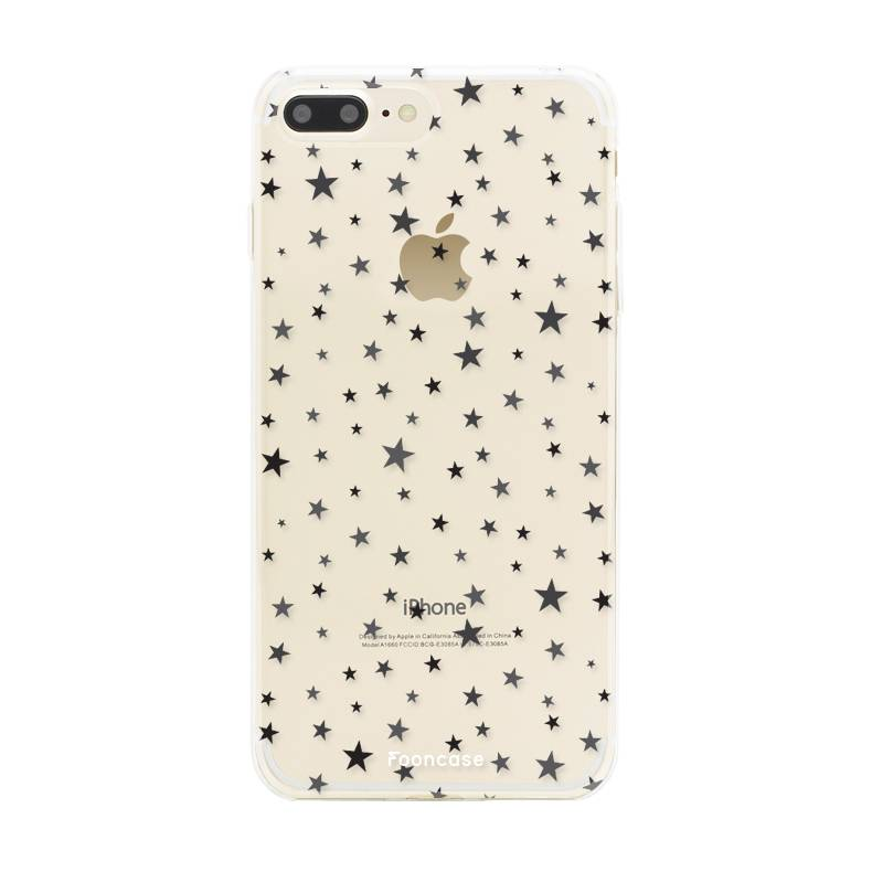 FOONCASE iPhone 7 Plus hoesje TPU Soft Case - Back Cover - Stars / Sterretjes