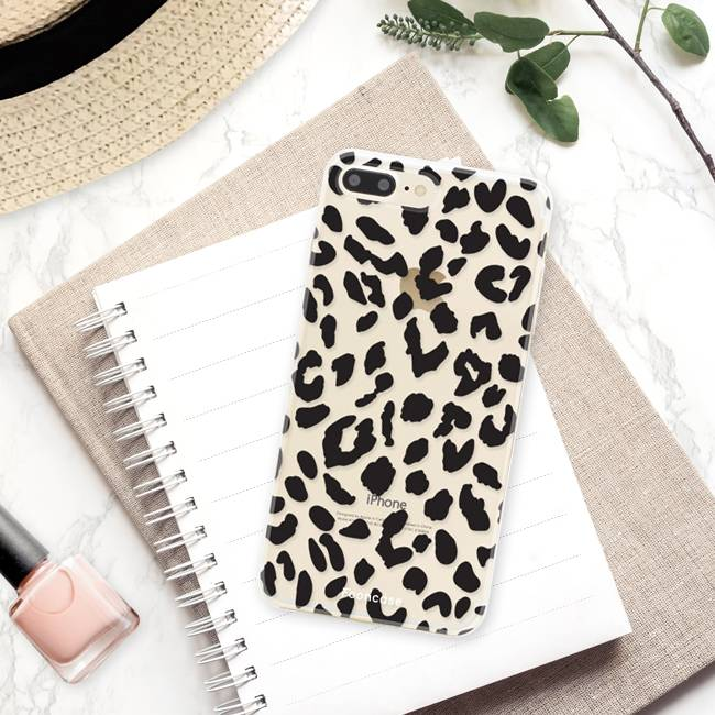 FOONCASE iPhone 7 Plus hoesje TPU Soft Case - Back Cover - Luipaard / Leopard print